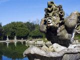 Vasca Dell'Isola, Harpy's Fountain, Boboli Gardens, Florence, Tuscany, Italy Photographic Print by Tondini Nico