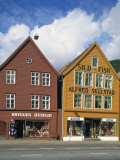 Traditional Wooden Building Facades, Used as Shops, Bryggen, Norway, Scandinavia, Europe Photographic Print by Richardson Rolf