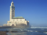 Hassan II Mosque, Casablanca, Morocco, North Africa, Africa Photographic Print by Simanor Eitan