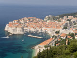 Old Town and Old Port, Seen from the Hills to the Southeast, Dubrovnik, Croatia Photographic Print by Waltham Tony