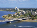 Aerial of the Narrows Bridge in the City of Perth, Western Australia, Australia, Pacific Photographic Print by Scholey Peter