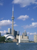 C.N.Tower and the Toronto Skyline, Ontario, Canada, North America Photographic Print by Rainford Roy