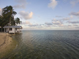 Beach Cabana, Tobaco Caye, Belize, Central America Photographic Print by Jane Sweeney