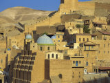 Buildings at the Mar Saba Orthodox Monastery Near Bethlehem, Judean Desert, Israel, Middle East Photographic Print by Simanor Eitan