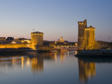 La Chaine and St. Nicholas Towers, La Rochelle at Dusk, Charente-Maritime, France Photographic Print by Stuart Hazel