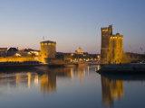 La Chaine and St. Nicholas Towers, La Rochelle at Dusk, Charente-Maritime, France Photographic Print by Stuart Hazel