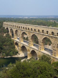Roman Aqueduct, the Pont Du Gard, UNESCO World Heritage Site, in the Languedoc Roussillon, France Photographic Print by Scholey Peter