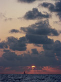 Seascape with Clouds in the Sky at Sunset Photographic Print by Woolfitt Adam