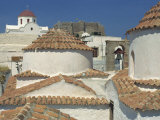 Roof of the St. John Monastery, Hora, Patmos, Dodecanese Islands, Greek Islands, Greece Photographic Print by Simanor Eitan