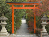 Torii, Ryoan-Ji Temple, UNESCO World Heritage Site, Kyoto, Kansai, Honshu, Japan Photographic Print by Schlenker Jochen