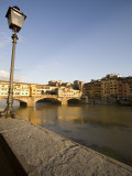Along the Arno River and the Ponte Vecchio, Florence, Tuscany, Italy, Europe Photographic Print by Olivieri Oliviero