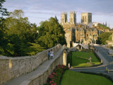 Old City Wall and York Minster, York, Yorkshire, England, United Kingdom, Europe Photographic Print by Scholey Peter
