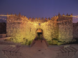 Damascus Gate at Dusk, Old City, UNESCO World Heritage Site, Jerusalem, Israel, Middle East Photographic Print by Simanor Eitan