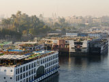 Cruise Ships on the River Nile, Luxor, Egypt, North Africa, Africa Photographic Print by Schlenker Jochen