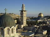 Skyline of the Old City, Uesco World Heritage Site, Jerusalem, Israel, Middle East Photographic Print by Simanor Eitan