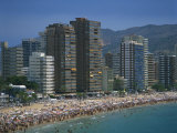 Playa De Levante, Benidorm, on the Costa Blanca, Valencia, Spain Photographic Print by Richardson Rolf