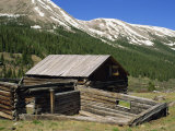 Log Cabin at Independence Town Site Founded 1879 When Gold Discovered, Aspen, Colorado, USA Photographic Print by Westwater Nedra