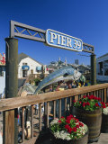 Sign for Pier 39, Fisherman's Wharf, San Francisco, California, USA Photographic Print by Tomlinson Ruth