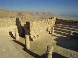 Synagogue, Masada, UNESCO World Heritage Site, Israel, Middle East Photographic Print by Simanor Eitan