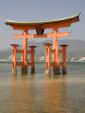 Otorii Gate, Itsukushima Shrine, UNESCO World Heritage Site, Miyajima, Japan Photographic Print by Richardson Rolf