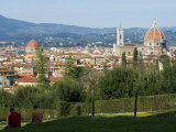 View of Florence from Boboli Gardens, Florence, Tuscany, Italy, Europe Photographic Print by Tondini Nico