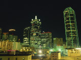 City Skyline at Night, Dallas, Texas, United States of America, North America Photographic Print by Rennie Christopher