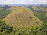 Chocolate Hills, Bohol Island, the Philippines, Southeast Asia Photographic Print by De Mann Jean-Pierre