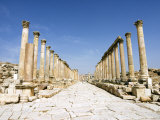 Cardo, North Colonnaded Street, Jerash, a Roman Decapolis City, Jordan, Middle East Photographic Print by Tondini Nico