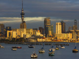 Okahu Bay Boat Harbour and Skyline, Auckland, North Island, New Zealand, Pacific Photographic Print by Schlenker Jochen