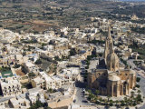 Aerial View of Church of Ghajnsielem, Mgarr, Gozo Island, Malta, Europe Photographic Print by Tondini Nico