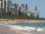 Boa Viagem Beach, Recife, Pernambuco, Brazil, South America Fotografiskt tryck av Richardson Rolf