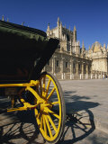 Horse-Drawn Carriage in Plaza Del Triunfo in Front of the Cathedral, Seville, Andalucia, Spain Photographic Print by Tomlinson Ruth