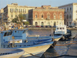 Boats in the Harbour, Ortygia, Syracuse, on the Island of Sicily, Italy, Europe Photographic Print by Terry Sheila