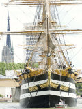 Three Masted Boat, Amerigo Vespucci from Italy During Armada 2008, Rouen, Normandy, France Photographic Print by Thouvenin Guy