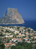 View over the Town of Calpe to the Rocky Headland of Penon De Ifach in Valencia, Spain Photographic Print by Richardson Rolf
