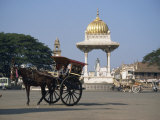 Horse and Cart, Mysore, Karnataka State, India Photographic Print by Jane Sweeney