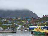 Harbour, Sissimut, Greenland, Polar Regions Photographic Print by Milse Thorsten