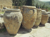 Large Storage Jars, Knossos, Crete, Greece, Europe Photographic Print by Terry Sheila