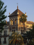 Tower of the Exclusive Hotel Alfonso Xiii in the Evening, Seville, Andalucia, Spain Photographic Print by Tomlinson Ruth