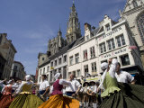 Folk Dance in Old Town, Antwerp, Belgium, Europe Photographic Print by Olivieri Oliviero