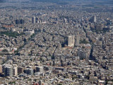 Aerial View over the City of Damascus, Syria, Middle East Photographic Print by Waltham Tony
