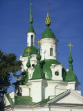 Russian Orthodox Church with Green Painted Panels on Roof and Spires, Parnu, Estonia, Baltic States Photographic Print by Simanor Eitan