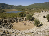 Theatre, Kaunos, Dalyan, Lycia, Turkey Minor, Eurasia Photographic Print by Richardson Rolf