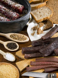 Biltong, Dried and Salted Meat from South Africa, Africa Photographic Print by Tondini Nico