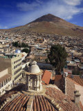 View of the Town of Cerro Rico from the Roof of the Covento De San Francisco in Potosi, Bolivia Photographic Print by Simanor Eitan