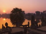 Sunrise, Srah Srang, Angkor, Siem Reap, Cambodia, Indochina, Southeast Asia Photographic Print by Schlenker Jochen