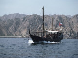 Dhow Leaving Muttrah Harbour, Muscat, Oman, Middle East Photographic Print by Waltham Tony