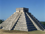 Pyramid at Chichen Itza, UNESCO World Heritage Site, Mexico, North America Photographic Print by Tovy Adina