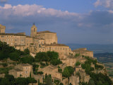 Village of Gordes Overlooking the Luberon Countryside, Vaucluse, Provence, France, Europe Photographic Print by Tomlinson Ruth