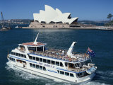 Ferry Passes the Opera House in Sydney, New South Wales, Australia, Pacific Photographic Print by Tovy Adina